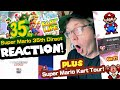 Gambar cover REACTION to the Super Mario 35th Direct WITH Mario Kart Tour News!