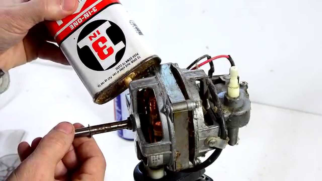hight resolution of fixing a seized oscillating fan motor