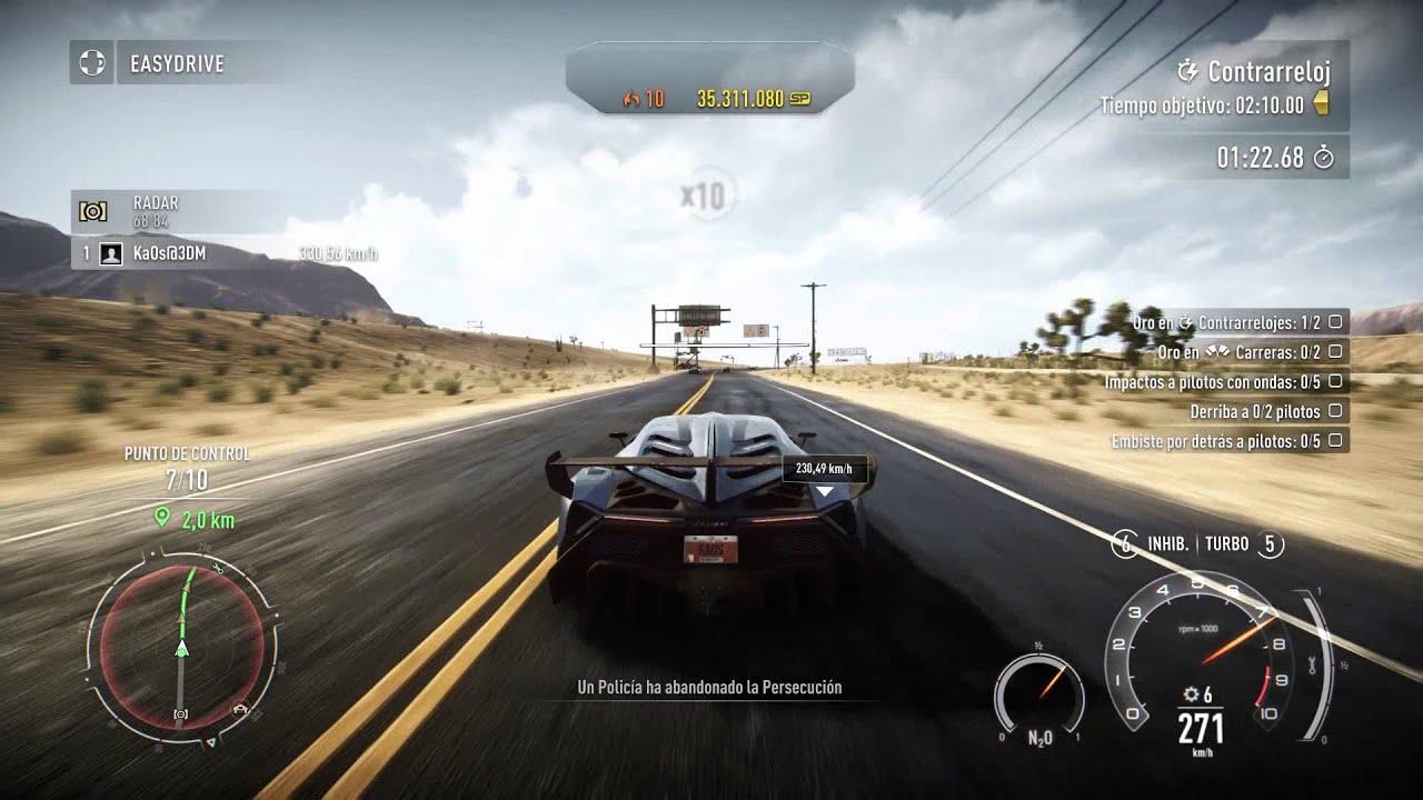 Need For Speed Rivals - Lamborghini Veneno MAX SPEED - YouTube