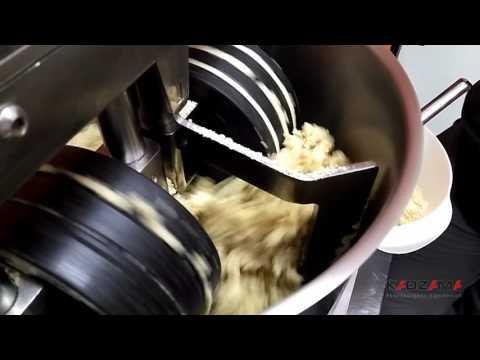 Almond paste in melangeur