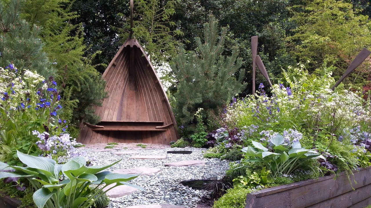 the viking cruises norse garden - chelsea flower show 2014