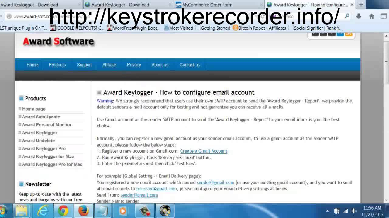 Free Download KeyLogger - Remote Install