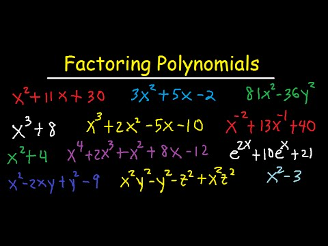 Factoring Polynomials - By GCF, AC Method, Grouping, Substitution, Sum & Difference of Cubes