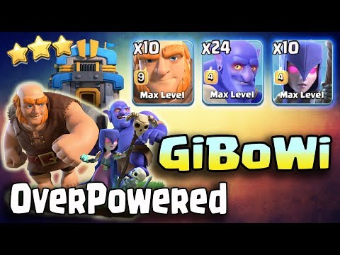 10 Giant + 10 Witch  + 24 Bowler = GiBoWi After Update Over Powering 3Star 3 inferno TH12 War Base