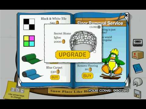 Club Penguin 2008-2009 Furniture and Igloo Catolgo Secrets