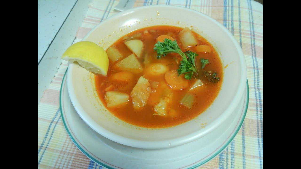 como hacer sopa de pescado casera