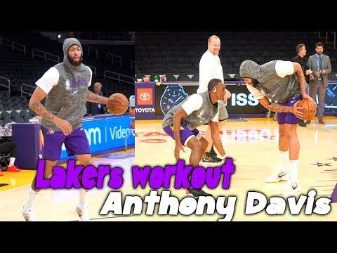 Lakers Anthony Davis Workout 1 On 1 Vs Rajon Rondo