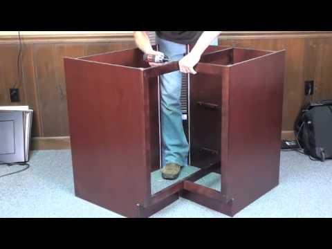 How To Assemble A Lazy Susan Base Cabinet (2 Of 3)   TheRTAStore.com