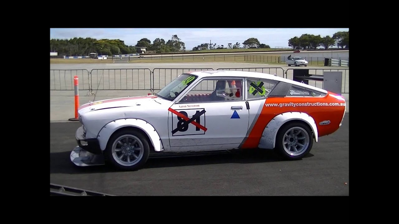 Phillip Island Sprint - Datsun 120Y 10-2-2013. - YouTube