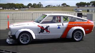 Phillip Island Sprint - Datsun 120Y 10-2-2013.