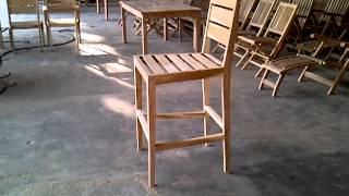 New Design Teak Bar Chair