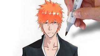 ✎ How to draw Ichigo Kurosaki