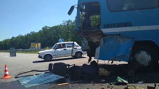 Авария трасса Киев Харьков 21.06.18