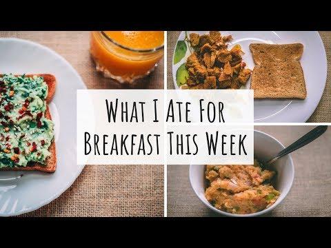 What I Ate For Breakfast This Week | Mon-Fri Indian Breakfast Recipes| Healthy Breakfast Ideas