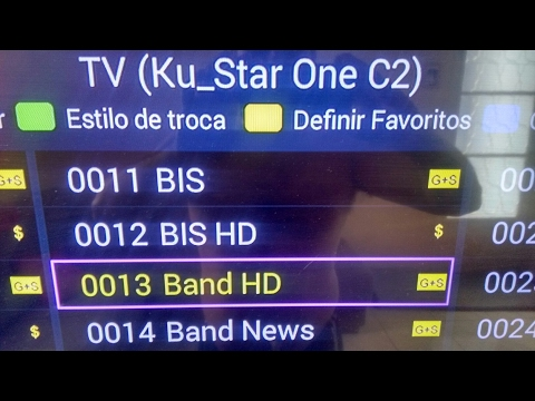 ADICIONAR OS CANAIS BAND HD, FOX PREMIUM 1,2 HD NO 70W
