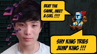 Sykkuno Shy King tries Jump King   Beat The Game Meet A Girl In The End