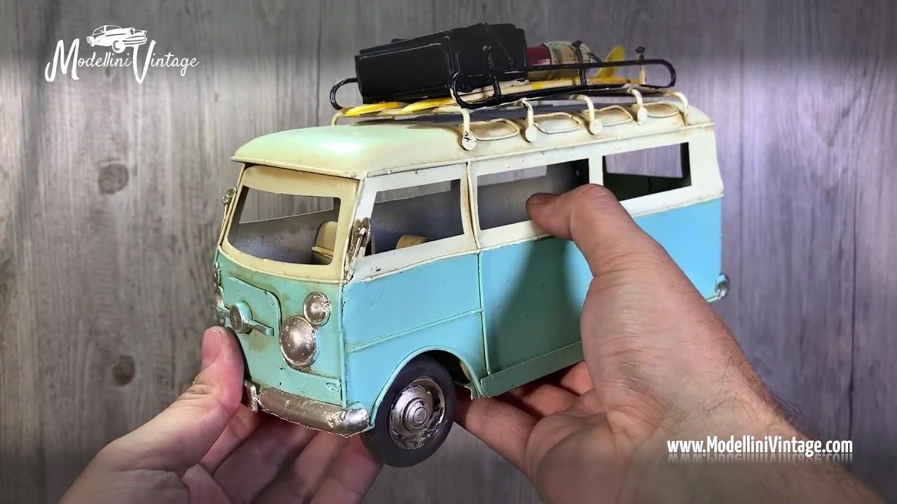 Arredamento Stile Hippie modellino furgone volkswagen hippie d'epoca da collezione in metallo