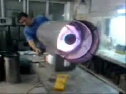 Calefactor industrial vortice cal hs youtube for Calefactor mural electrico