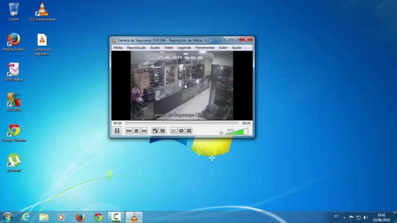 Como abrir arquivo  264 (DVR) no Windows (Utilizando o VLC Player)