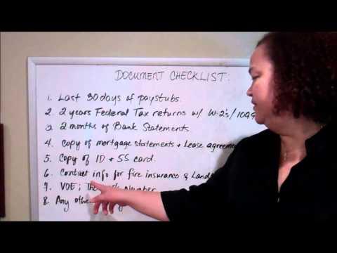 Loan document checklist Video