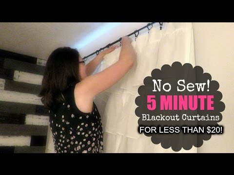 DIY | NO SEW BLACKOUT CURTAINS FOR LESS THAN $20!