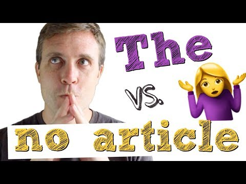 How to Use the Definite Article (THE) & Zero Article (X) | Grammar Lesson