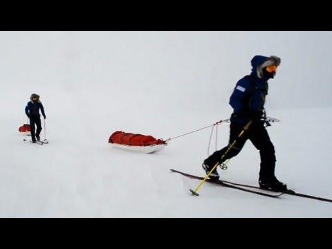 Two-man team begins 1,800-mile walk across Antarctica