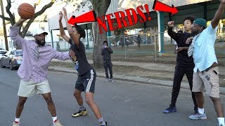 NERDS PULL UP TO THE HOOD IN NEW ORLEANS TO PLAY BASKETBALL *EMBARRASSING*