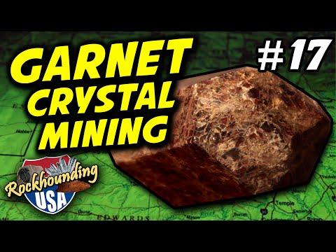 Episode 17: Gorgeous Garnet Crystals From The Little Pine Garnet Mine!