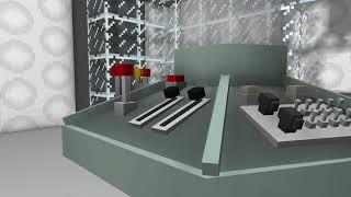 1963 TARDIS interior demonstration Mine-Imator