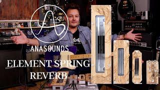 Anasounds Elements Spring Reverb | Coolest Reverb Pedal Combo Ever? | Tone Tasting