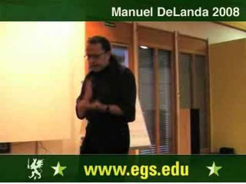 Manuel DeLanda. Materialism, Experience and Philosophy. 2008 1/12