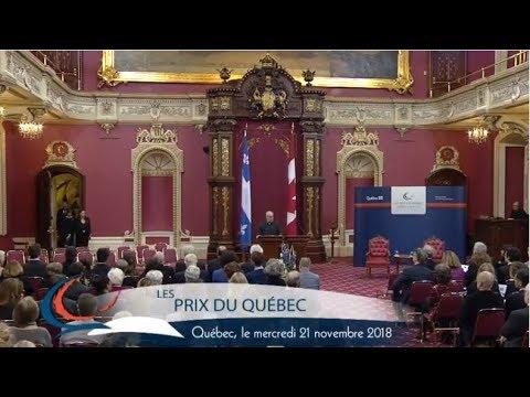 Cérémonie des Prix du Québec 2018