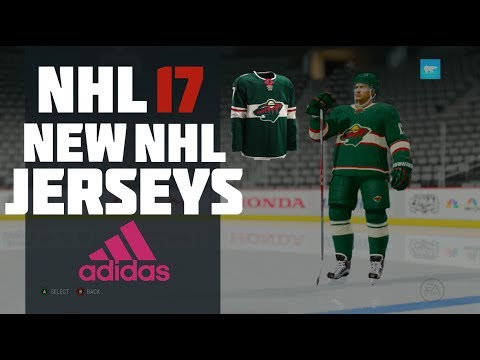 34aadc6bb Adidas New NHL Jerseys In NHL 17 - YouTube