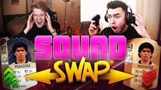 PRIME 97 MARADONA SQUAD SWAP!! DUAL YOUTUBER SQUAD BUILDER! FIFA 18 ULTIMATE TEAM