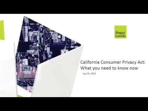 California Consumer Privacy Act: What you need to know now