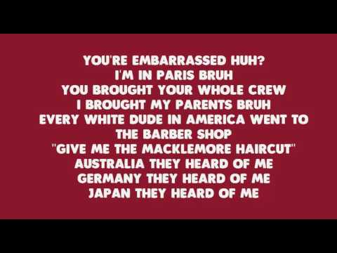 Brad Pitt's Cousin - Macklemore feat. XP | Lyric video