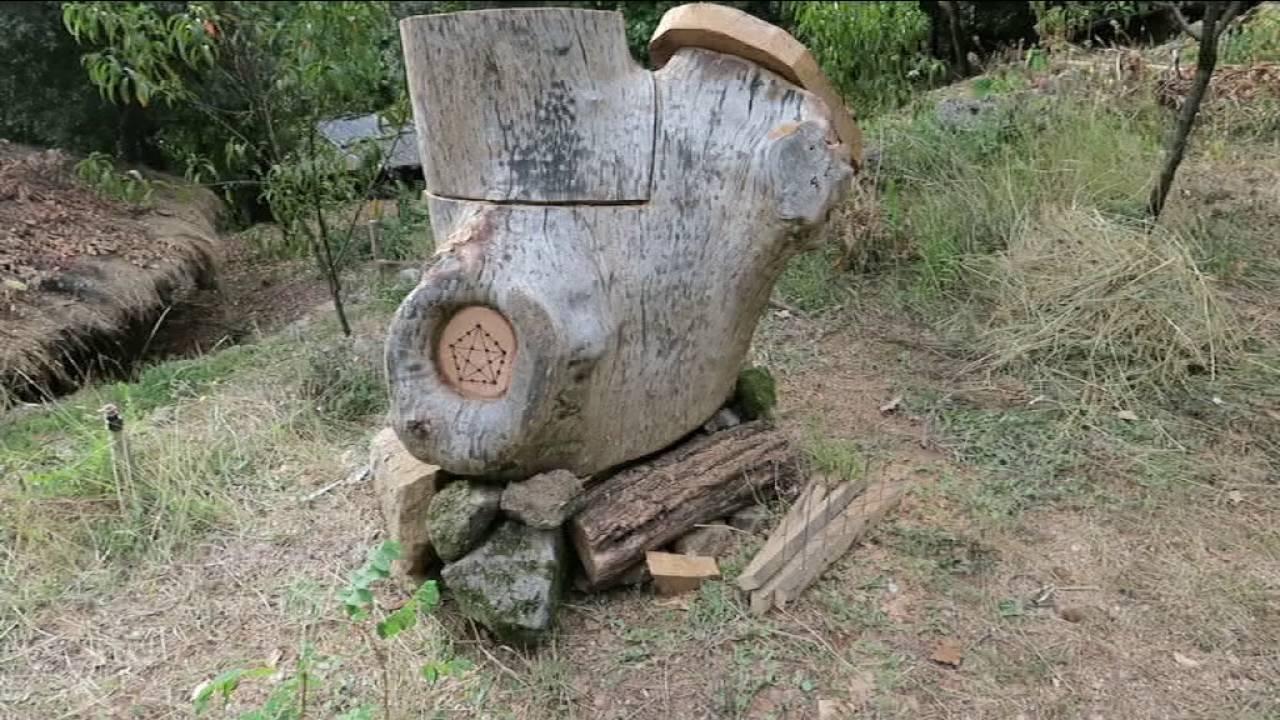 Fabrication ruche sauvage avec r cuperation d 39 essaim youtube - Comment fabriquer une ruche ...