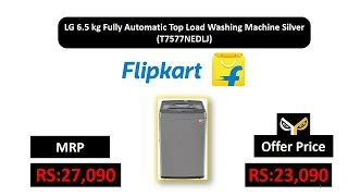LG 6.5 kg Fully Automatic Top Load Washing Machine Silver (T7577NEDLJ)