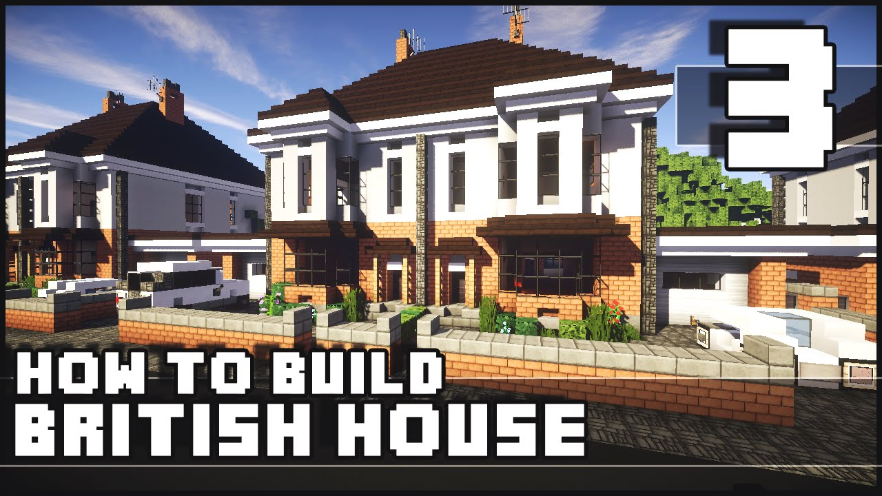 Minecraft how to build british house part 3 for Housse storio max 7