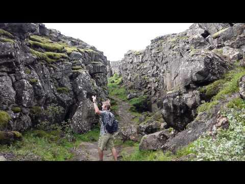 Divergent Rift Valley in Þingvellir, Iceland