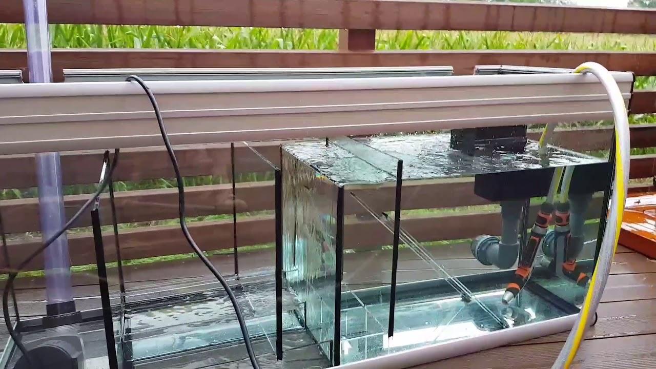 aquarium technikbecken bio filter testlauf 1 youtube. Black Bedroom Furniture Sets. Home Design Ideas