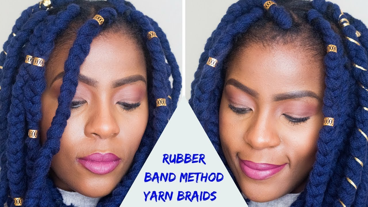 How To | Rubber Band Method Yarn Braids on Short Natural ...