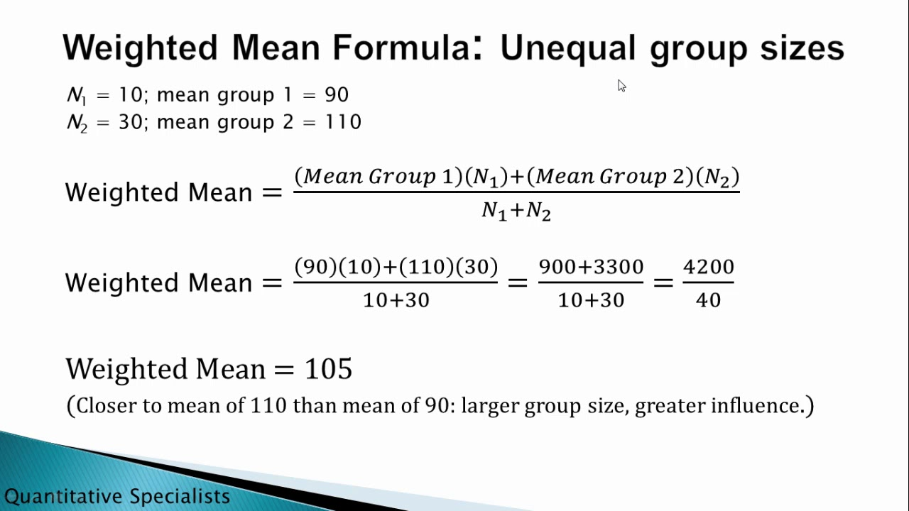 WEIGHTED MEAN FORMULA PDF DOWNLOAD