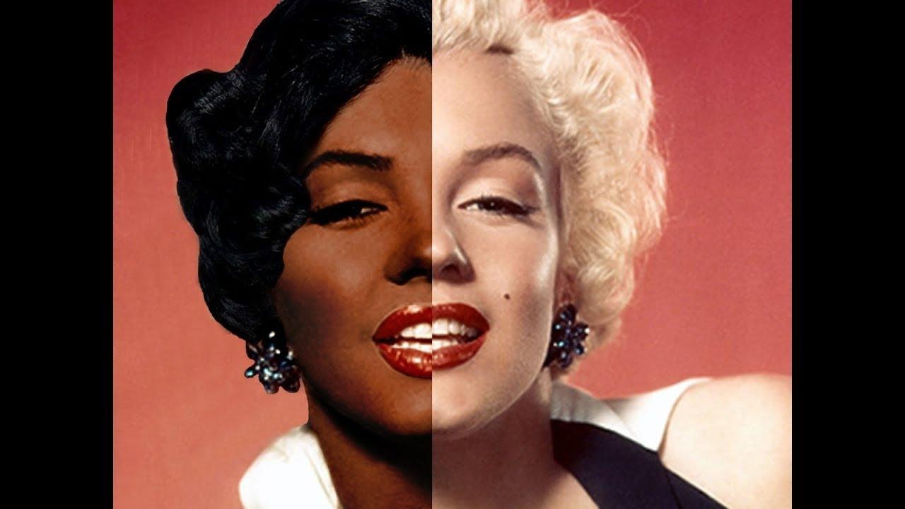 Marilyn Monroe White To Black Photoshop Transformation Youtube