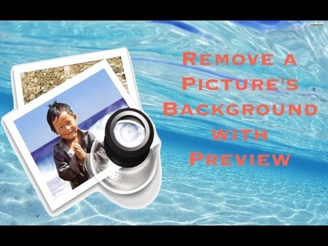 How to make picture background transparent on mac