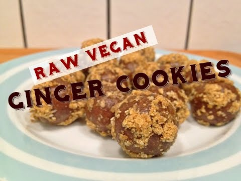 Raw Vegan Ginger Cookies – Low Fat