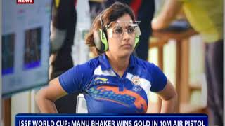 ISSF World Cup: Manu Bhaker wins Gold in 10M AIR Pistol