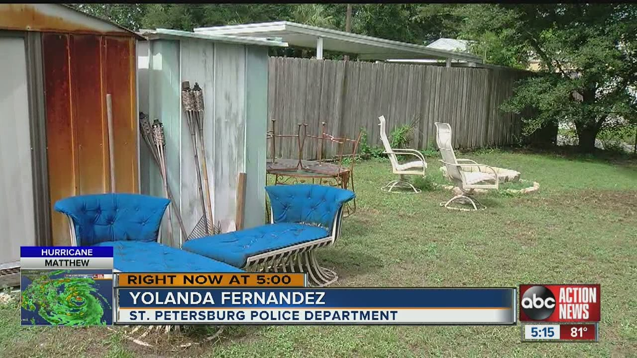 Secure Outdoor Furniture And Decorations As Storm Roaches