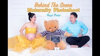 Behind The Scene Maternity Photo Shoot at MAGNI PHOTO